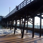 A Pier Stretches Towards Vanishing